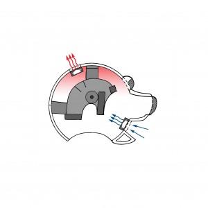Mascot head cooling accessory