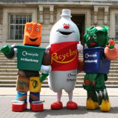 Recycling Bin brand Mascots