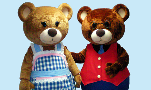 Mummy and Daddy Bear Mascots - Oddpost Entertainment