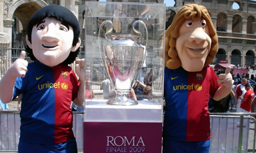 FC Barcelona Football Mascot - Messi Puyol