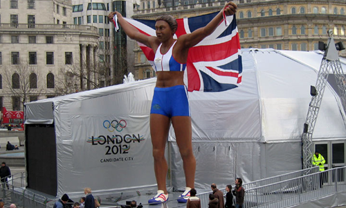 London 2012 Olympics bid Kelly Holmes statue