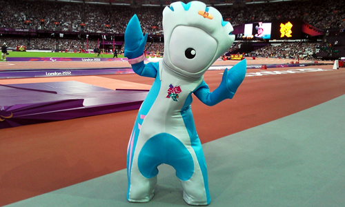 Mandeville Mascot in Olympic Stadium