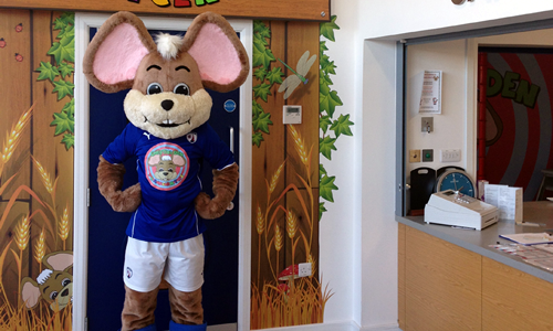 Chesterfield FC Mascot - Chester the Field Mouse