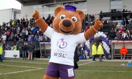 The FA WSL Mascot - Berry Bear