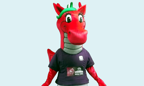 UEFA Women Under 19 Championship Wales 2013 - Football Association of Wales Mascot
