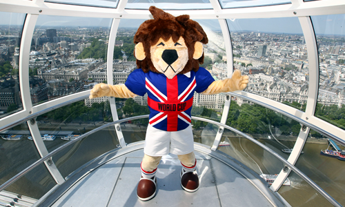 World Cup Willie Football Mascot - Wembley Stadium