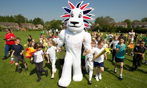 Team GB Mascot Pride the Lion