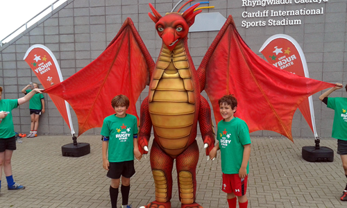 Welsh Rugby Union Mascot - Scorch