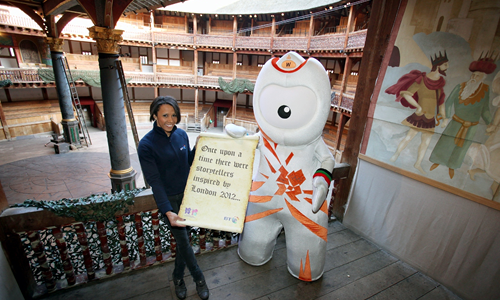 Olympic Mascots Wenlock & Kelly Holmes