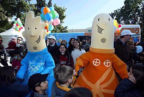 Phevos & Athena - Athens 2004 Olympic Mascots