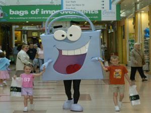 Carrier Bag Man Mascot