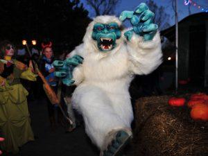 Halloween Yeti Mascot