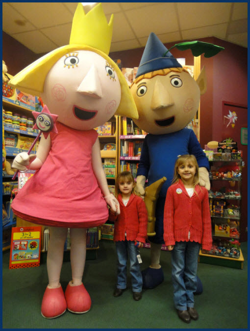 Ben and Holly mascot costumes
