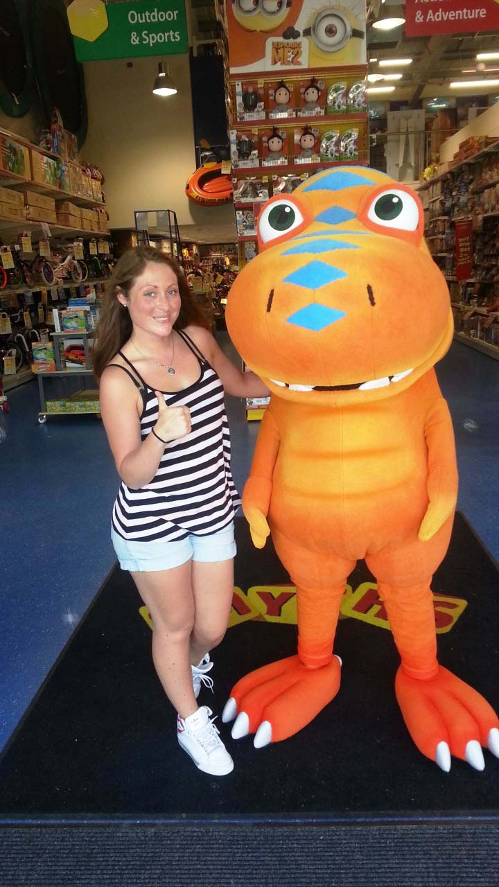 Buddy Dinosaur Train Mascot
