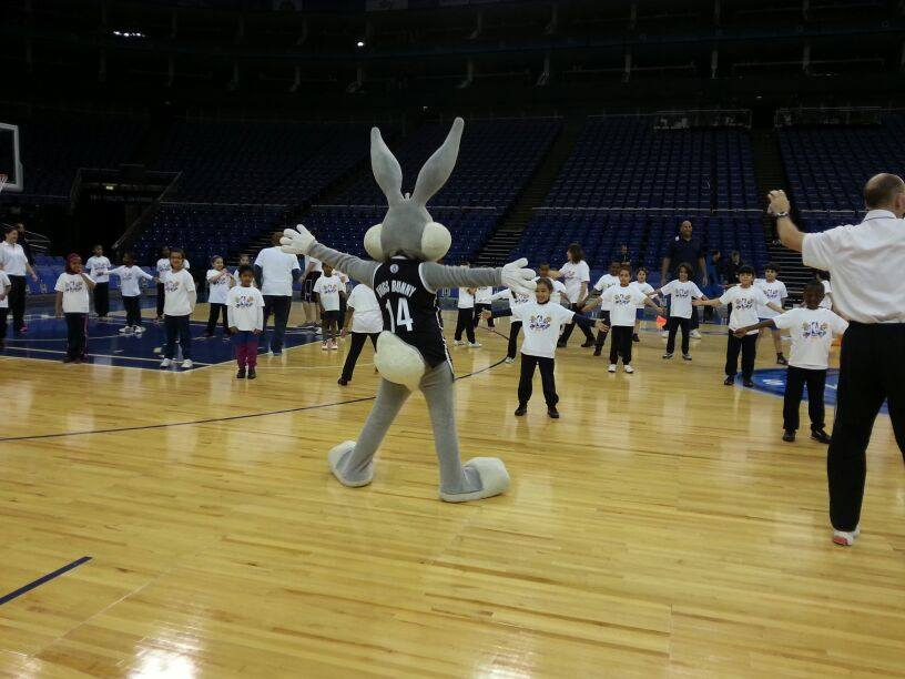 Bugs Bunny at NBA event