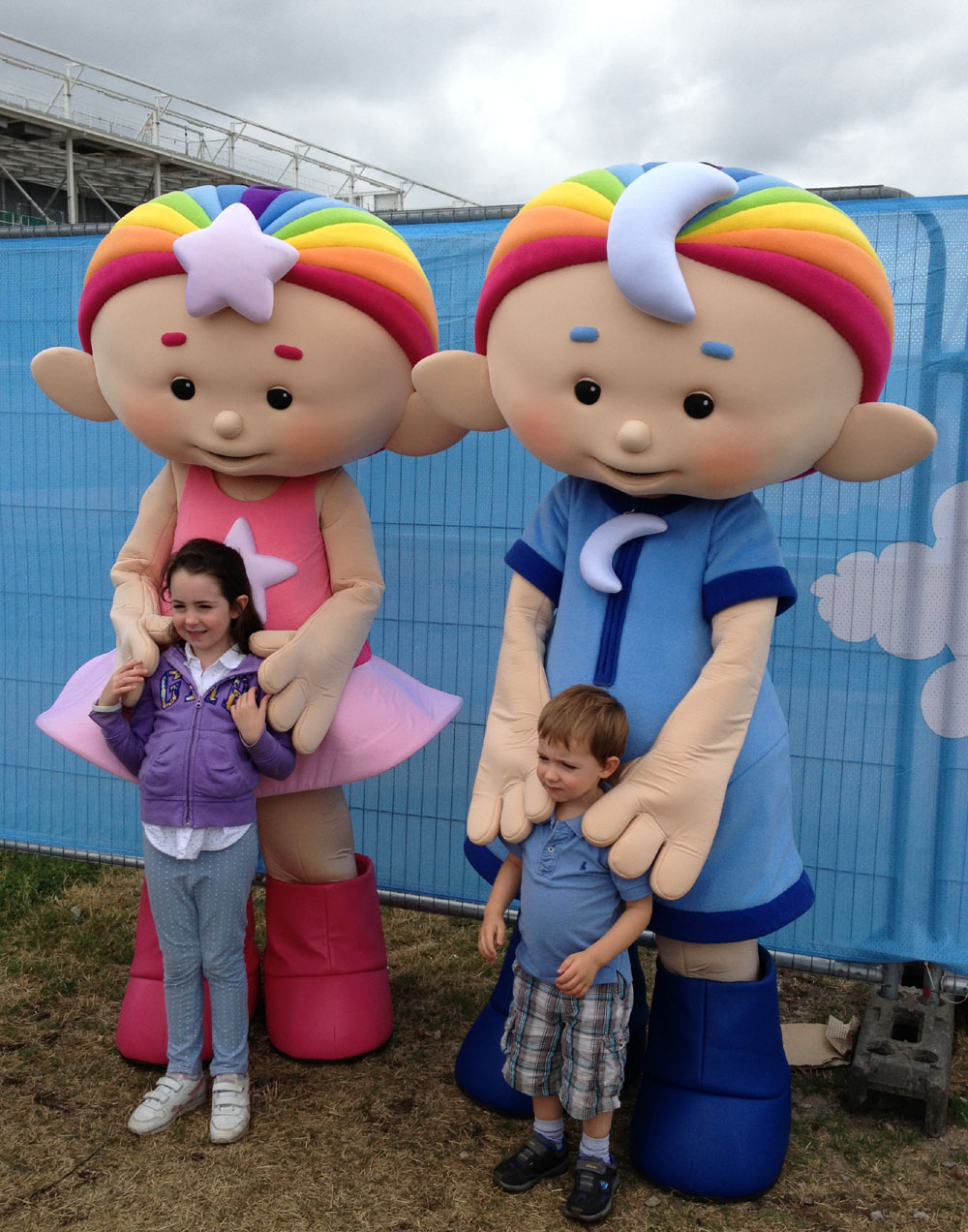 Cloudbabies characters attend LolliBop Festival
