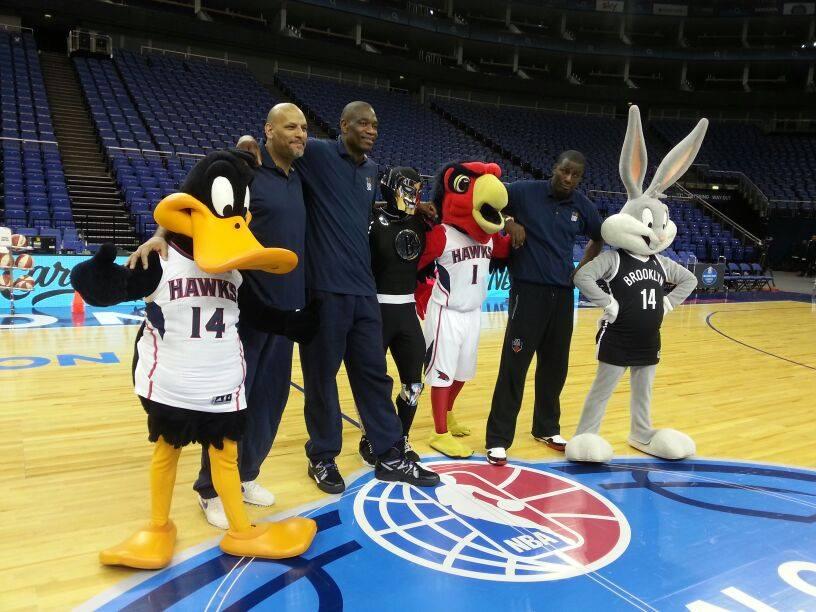 Daffy Ducks attends NBA event