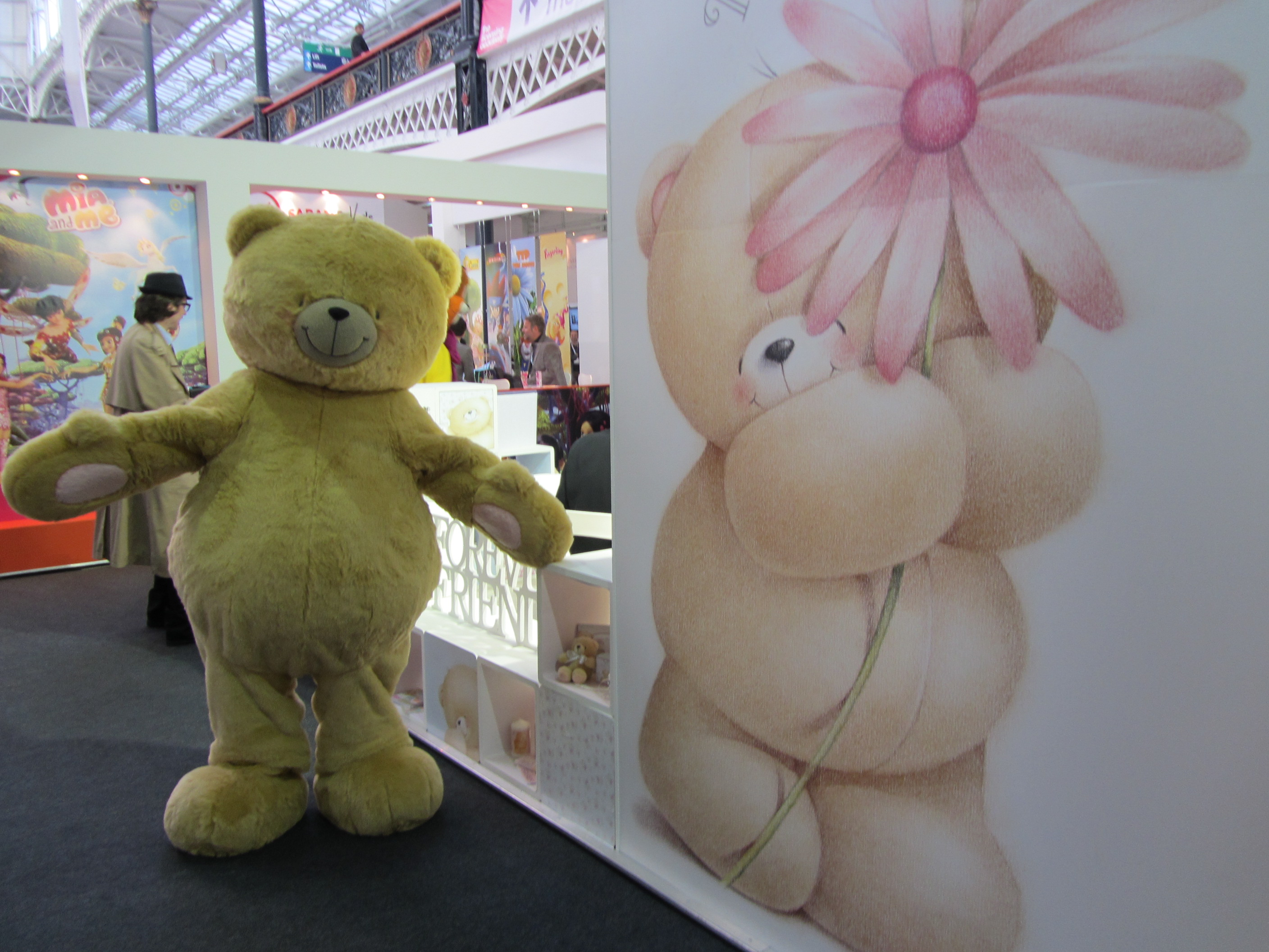 Forever Friends Bear visits trade show