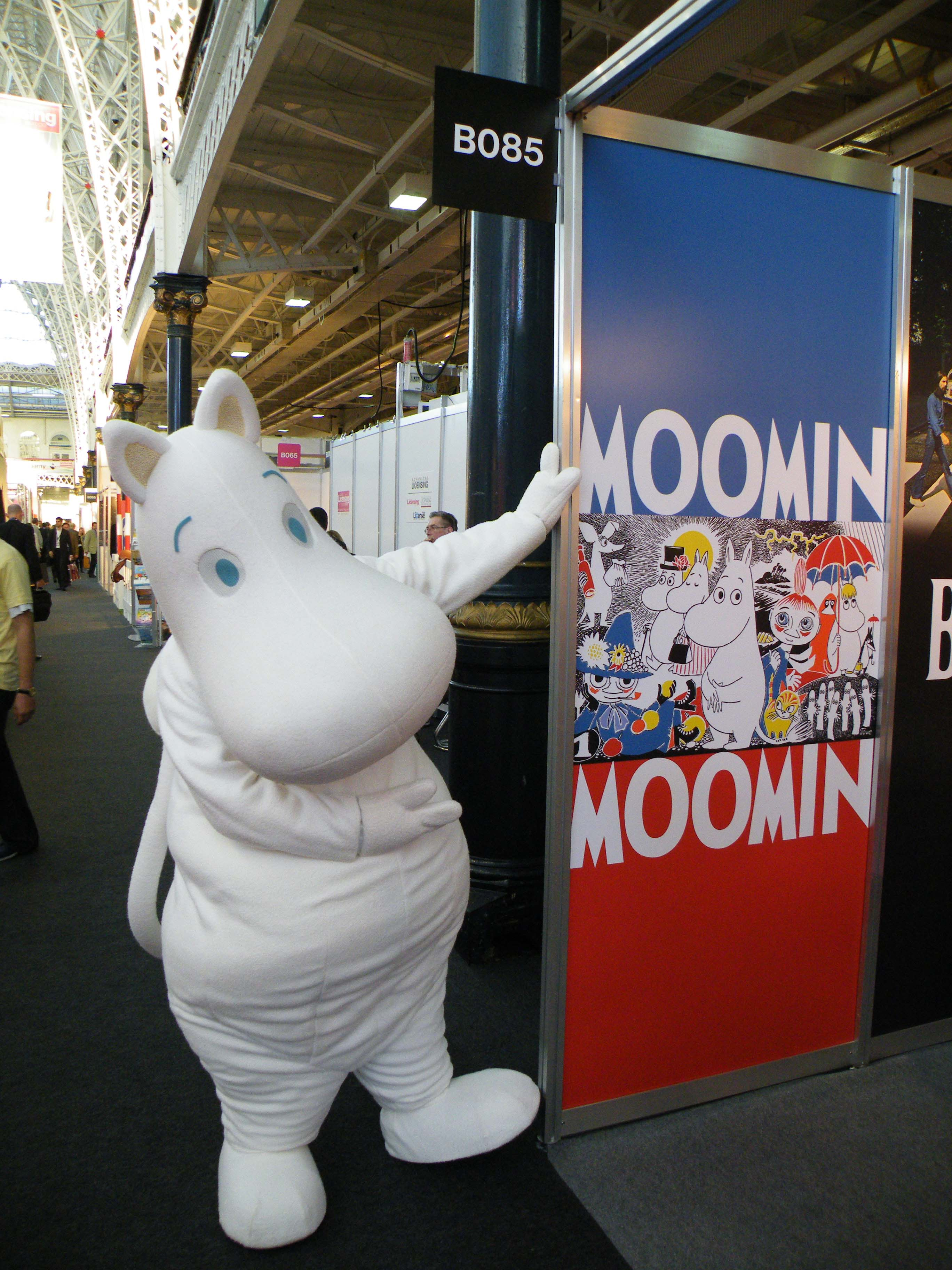 Moomin mascot in action