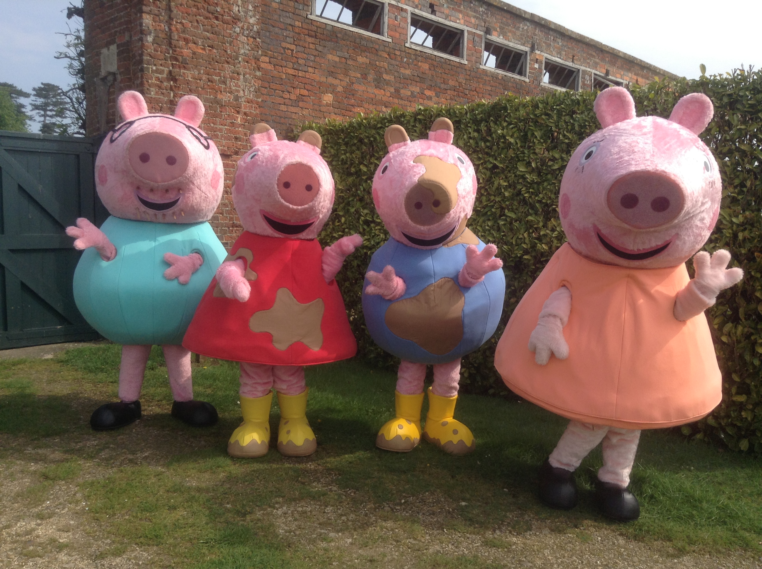Peppa Pig Characters Mascot Costume Hire Rainbow Productions