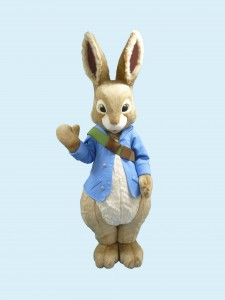 Friendly Peter Rabbit mascot