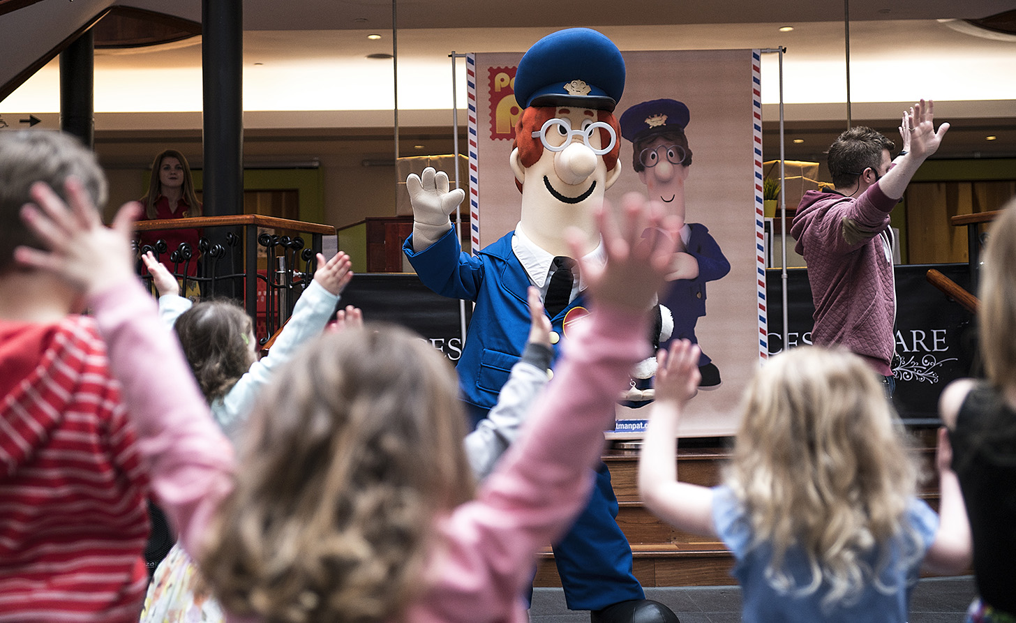 Postman Pat Costume Character during narration event