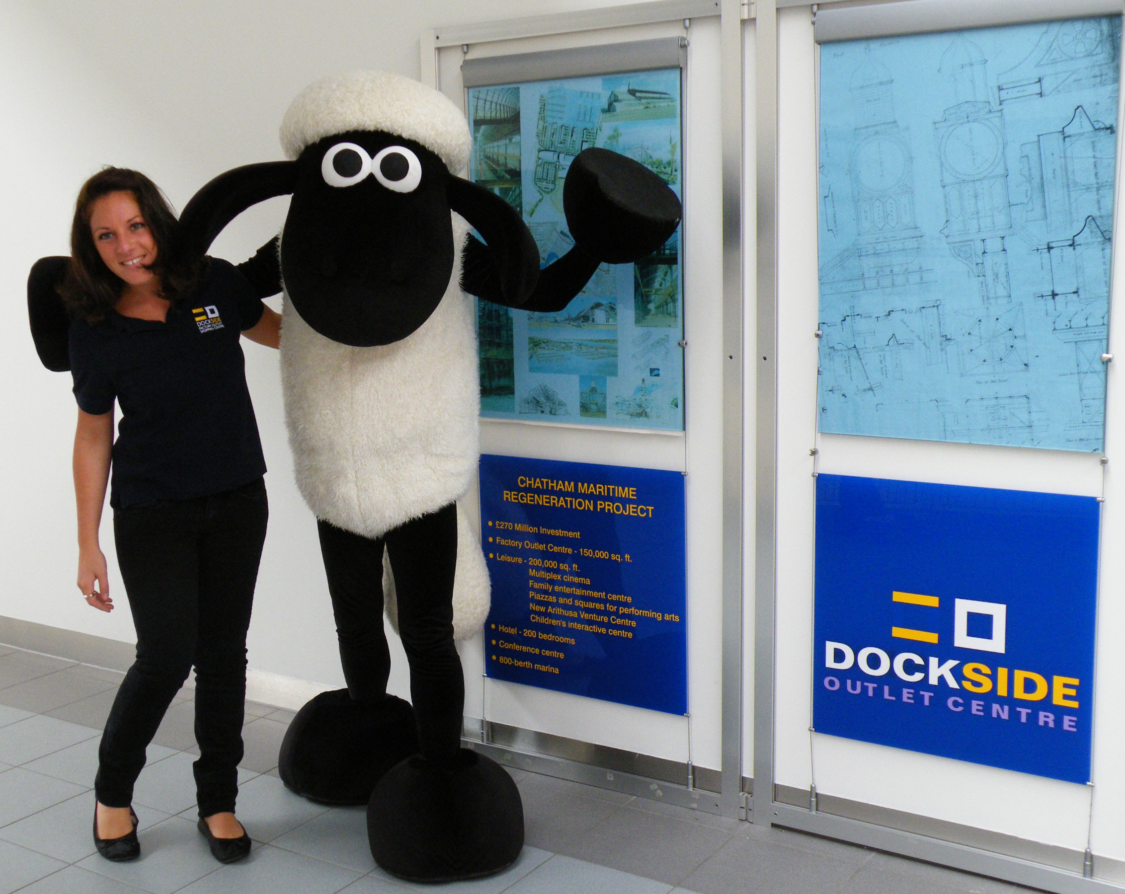 Shaun the Sheep at Dockside