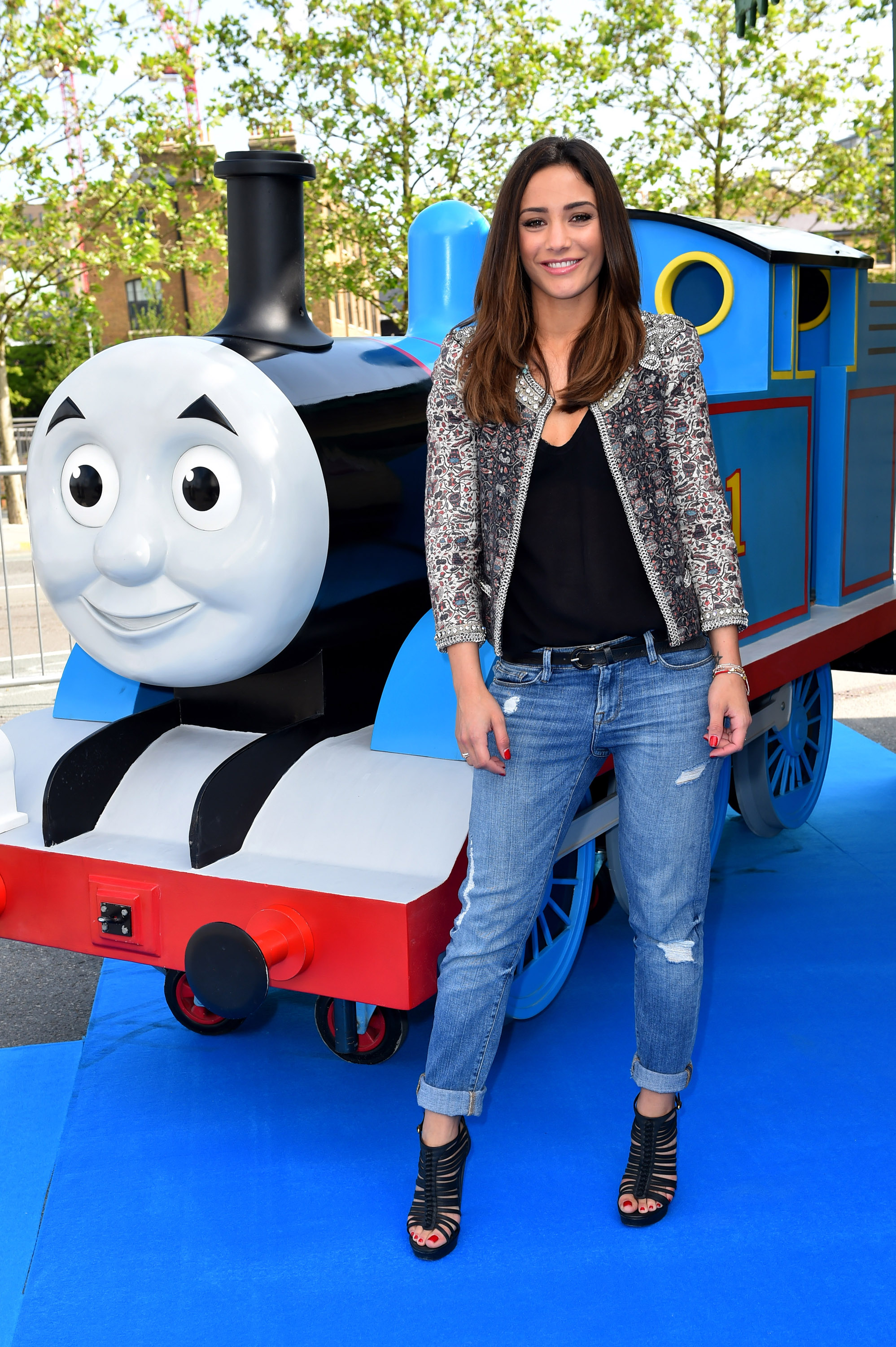 Thomas The Great Race premiere with Frankie Bridge