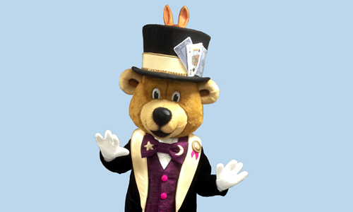 Paul the Magical Bear Mascot for Fun Funny Kids