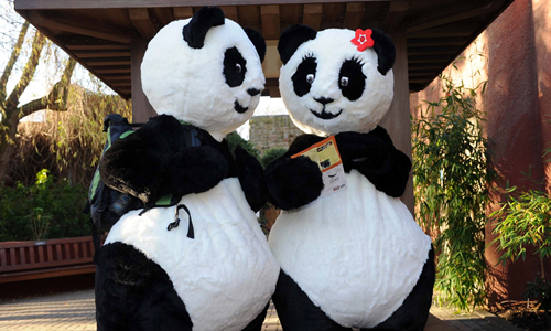 Edinburgh Zoo Panda Mascots