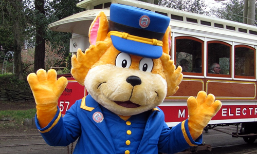 Cushag the Station Master Cat mascot