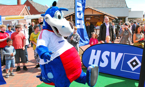 HSV Hamburg Football Mascot - Dino