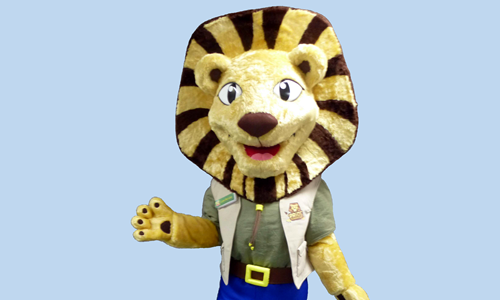 Folly Lion - Folly Farm Mascot