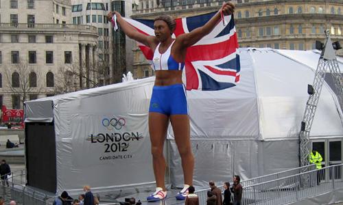 London 2012 Olympics bid Kelly Holmes statue