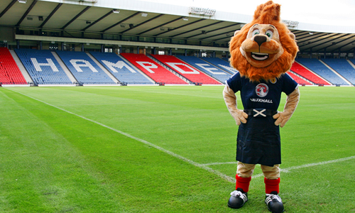 Scottish FA Football Mascot - Hampden Roary