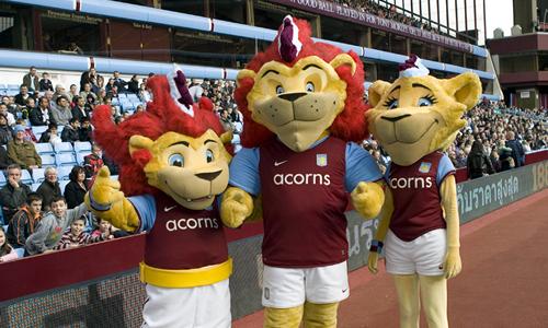 Aston Villa FC Mascot - Hercules Bella Chip