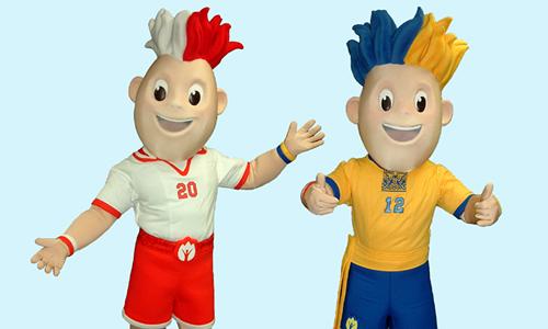 UEFA Euro 2012 - Slavek Slavko Football Mascots