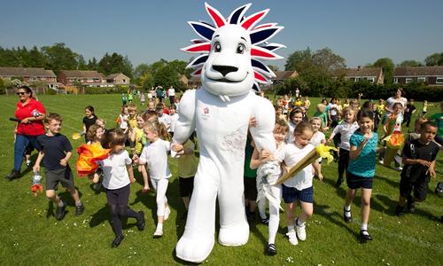 Team GB Mascot Pride the Lion