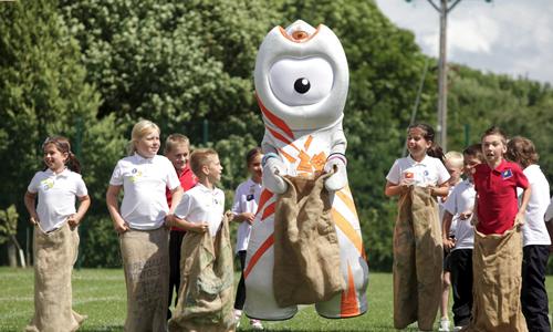 Wenlock Olympic Mascots School Visit