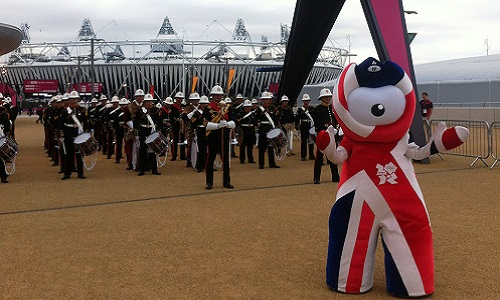 Union Jack version of Wenlock Mascot