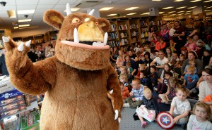 The Gruffalo costume character makes a personal appearance
