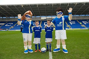 Bartley Blue & Zoe Lou Cardiff City FC