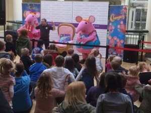 The Clangers visit Royal Victoria Place Shopping Centre