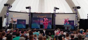 Clangers mini show at Blue Dot Festival, Jodrell Bank
