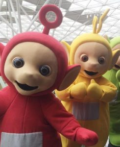 Po & Laa-Laa are set to make appearances this month at Toys R Us stores
